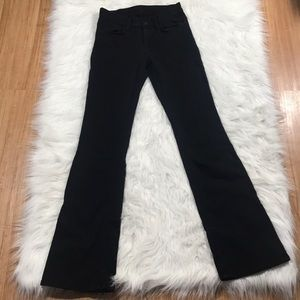 7 for All Mankind Black Bootcut midrise 25 25x32